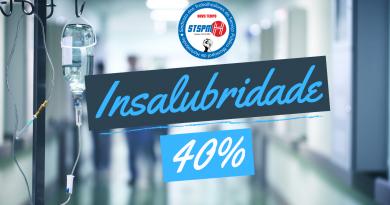 40% de Insalubridade | Reivindicamos manutenção do adicional pós-pandemia