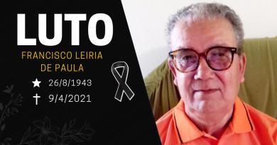 LUTO | Informamos com muito pesar o falecimento de Francisco Leiria de Paula